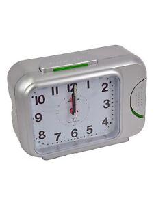 Atlanta Radio Alarm Silver Analogue Low Noise Alarm Clock Repetition RC 1798/19
