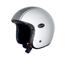 Vespa V-Fiber Open Face Jet Motorcycle White Grey Crash Helmet New