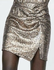 Zara Snakeskin Sequin Mini Skirt Party Size S