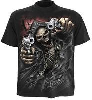 SPIRAL DIRECT ASSASSIN T-Shirt Biker/Grim Reaper/Skull/Goth/Skeleton/Top/Tee