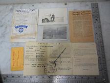 Vtg 1950's Baja Off Road race Car Crash Clipping Mexico Passport Paper Item Lot