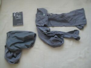 Caboo Lite Baby Carrier in Grey with Instructions and Carry Bag