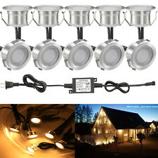 10Pcs 31mm Stainless Steel Outdoor Yard Landscape Driveway LED Deck Stair Lights