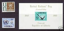 Liberia # 403 + C144-45 MNH Complete UN