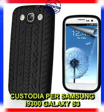Pellicola+Custodia SILICONE PENUMATICO NERO per Samsung I9300 Galaxy S III I9301