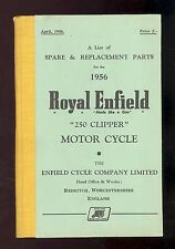 1956 ROYAL ENFIELD 250 CLIPPER MOTORCYCLE PARTS MANUAL / HARDBACK ORIGINAL