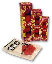 "1"" Soft Sponge Balls by Goshman Box of 4 + instructions. Red"