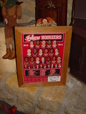 INDIANA UNIVERSITY CUSTOM RARE SIZE MAN CAVE CEDAR SPORTS SCHEDULE FRAME