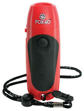 FOX 40 Electronic Whistle 3-tone 125 Db 9 Volt Battery Included Lanyard