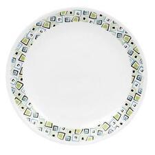 "Corelle Livingware CHOCOLATE MINT 10 1/4"" DINNER PLATE Brown Blue Green Squares"