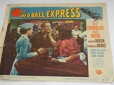 THE RED BALL EXPRESS Lobby Card Jeff Chandler & Alex Nicol 1952