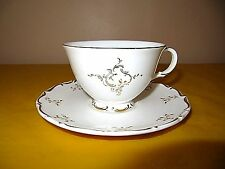 ROYAL DOULTON MONTEIGNE TEA CUPS&SAUCERS, CUPS factory 2nds , gold backstamps