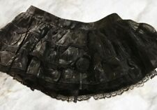 Living Dead Souls Small Gothic Black Lace Tutu Skirt goth rock punk