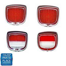 1973-77 Chevrolet El Camino Tail Light Back Up Lamp Lens Full Set of 4