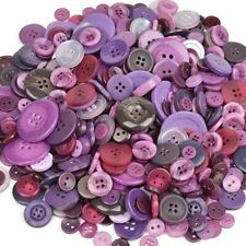 50 Resin Buttons Colorful Purples Jewelry Making Sewing Supplies Assorted Lot