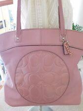 Coach Laura Leather Large Mauve/Pink Tote Shoulder Bag F18336