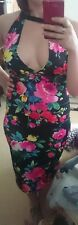 Stunningly Sexy floral choker bodycon dress size 10