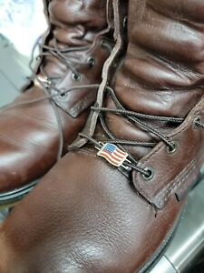 One Pair Red Wing Shoes American Flag Lace Keepers
