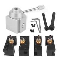"Aluminum Alloy Mini Quick Change Tool Post Lathe Holder Kit For 7""x10""/ 12""/14"""