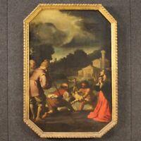 Dipinto religioso antico quadro olio su tela con cornice 600 XVII secolo