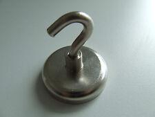 Neodym Hackenmagnet Starke Magnet mit Hacken 37/20kg D42/32mm N38 vernickelt