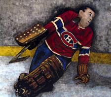 """GUMP WORSLEY 8"""" X 10"""" Photo Painting Art Collage Montreal Canadiens"""