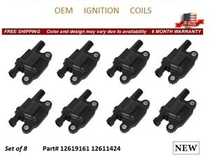 NEW 8x OEM IGNITION COILS FOR SAAB 9-7X 2005-2009 *12619161