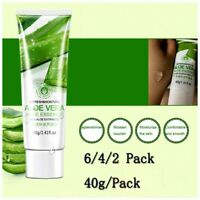 40g 6-2Pack Aloe Vera Soothing&Moisture Gel 100% Pure Moisturizer Protect Skin n