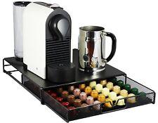 Coffee Pod Nespresso Storage Mesh Drawer Holder 56 Capsules Cups Quality Black