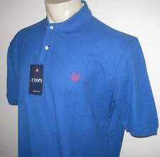 NEW 3XB CHAPS MENS POLO SHIRT Royal Blue Short Sleeve 3XL 3X XXXL