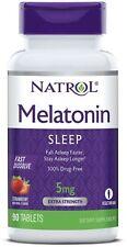 Natrol Fast Dissolve 5 mg MELATONIN Sleep Aid - 90 Tablets STRAWBERRY