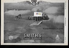 "VICKERS LTD ""VICTORIA"" SMITHS AIRCRAFT INSTRUMENTS 1935 GEORGE IN COMMAND AD"