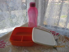 Tupperware Fun Repas Box, divisé Déjeuner et Bouteille 500 ml Set F