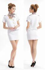 Sexy Flight Attendant Air Hostess Stewardess Uniform Costume Coslay Party L Size