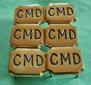 A GROUP OF SIX HORSE BRASS HARNESS DECORATIONS - CMD