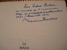 Maurice BEERBLOCK La Boule de jardin 1959 E.O. num. Envoi