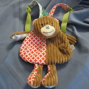Mud Pie Safari Monkey Backpack Bag