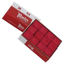 Master Pool Cue Red Tip Chalk Dozen Box Cube 12 Tweeten Fibre Co