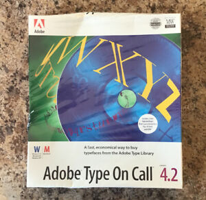 Adobe Type On Call Version 4.2 New Sealed