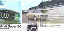 Auto Union Audi 70 80 Super 90 1967/68 Original  UK Sales Brochure No 652.015.20