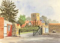 James Frank Adams (1923-2008) - Contemporary Watercolour, Village Church