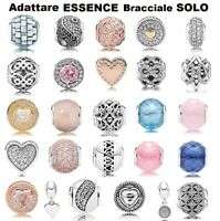 925 Argento Sterling Silver PAN ESSENCE Charms Adattare Charm Bracciale bracelet