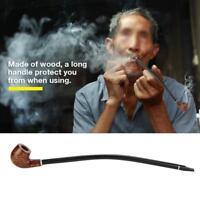Long Wooden Wood Modern Tobacco Smoking Pipe Churchwarden Long Handle Men's Gift