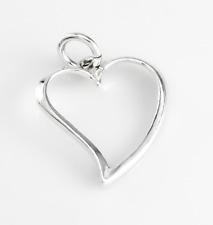 Echt 925 Sterling Silber Herz Anhänger, Damen Geschenk, schmuck