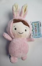 """drwr Pink Bunny BABY in costume WEEMALS Plush beanie 5"""" Ganz nwt rabbit easter"""