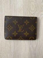 Louis Vuitton Monogram Leather Vintage Brown Bifold ID Card Holder Wallet