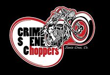 Crime Scene Harley USA Retro Headlight Mount Narrow Glide Trees Chrome Plated