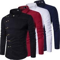 Herrenmode Langarm Hemden Freizeithemden Klassic Shirt mit Knopf Slim Fit Tops