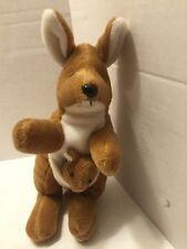 "Kangaroo Plush with Baby Joey In Pouch 7"" by Unipak Stuffed Animal"