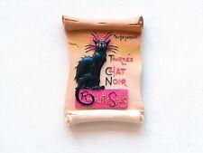 FRIDGE MAGNET BLACK CAT 3D  LA TOURNEE DU CHAT NOIR PARIS FRANCE